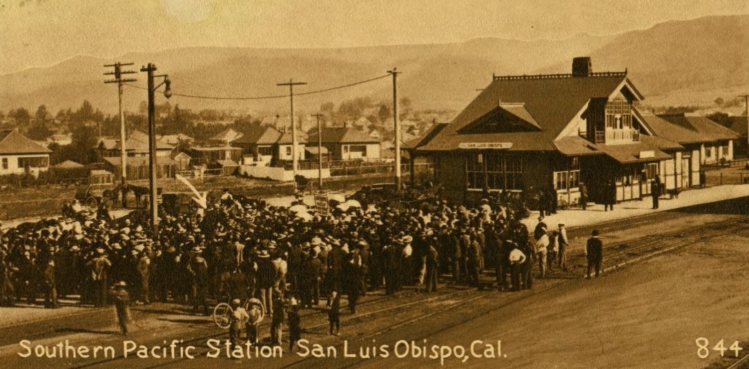 Superbe First Southern Pacific Train Arrives SLO, May 5, 1894